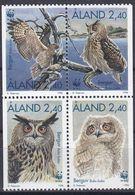 Tr_ Aland 1996 - Mi.Nr. 109 - 112 - Postfrisch MNH - Tiere Animals Vögel Birds WWF - Eulenvögel