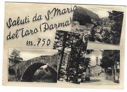 CLA166 - SALUTI DA S MARIA DEL TARO PARMA 4 VEDUTE 1957 - Other Cities