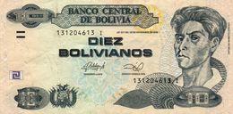 BOLIVIA 10 BOLIVIANOS 2013  P-238 CIRC - Bolivien