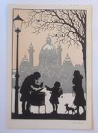 Scherenschnitt, Weihnachten, Maronen Verkäufer, 1910, Josefine Allmayer♥ (80134) - Silhouettes