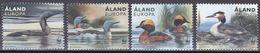 Tr_ Aland 2013 - Mi.Nr. 371 - 374 - Postfrisch MNH - Tiere Animals Vögel Birds WWF - Canards