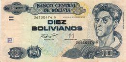 BOLIVIA 10 BOLIVIANOS 2009  P-228a2  CIRC - Bolivien
