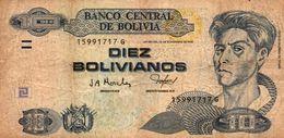 BOLIVIA 10 BOLIVIANOS 2001  P-223  CIRC - Bolivien