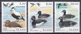 Tr_ Aland 1987 - Mi.Nr. 20 - 22 - Postfrisch MNH - Tiere Animals Vögel Birds Enten Ducks - Ducks