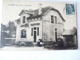 A Vendre Carte De St-Angel. La Poste, Enfants, Vieille  Voiture . Petit Prix. - Autres Communes