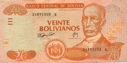 BOLIVIA 20 BOLIVIANOS 2005  P-229a2  XF+AUNC - Bolivia