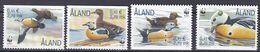 Tr_ Aland 2001 - Mi.Nr. 183 - 186 - Postfrisch MNH - Tiere Animals Vögel Birds Enten Ducks - Ducks