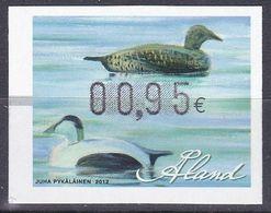 Tr_ Aland 2012 - ATM Mi.Nr. 23 - Postfrisch MNH - Tiere Animals Vögel Birds Enten Ducks - Ducks