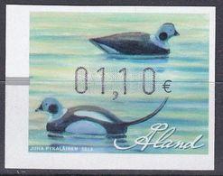 Tr_ Aland 2013 - ATM Mi.Nr. 24 - Postfrisch MNH - Tiere Animals Vögel Birds Enten Ducks - Ducks