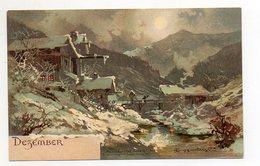 U3705/ Monate Dezember Guggenberger Litho Ak Ca.1900 Monatsgrüße - Postkaarten
