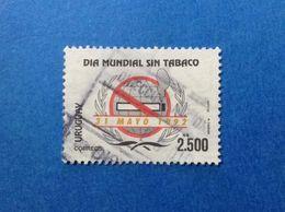 1992 URUGUAY ANNO MONDIALE CONTRO IL TABACCO 2.500 N$ FRANCOBOLLO USATO STAMP USED - Uruguay