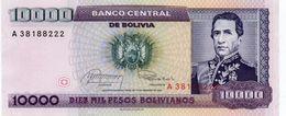 BOLIVIA 10000 PESOS BOLIVIANOS 1984 P-169a UNC - Bolivia
