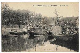 BELLE-ISLE - LEE PALAIS (56) Bassin à Flot Coll. Laurent 2304 (Beau 2 Mats En Réparation) - Belle Ile En Mer