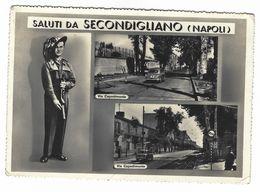 CLA175 - SALUTI DA SECONDIGLIANO NAPOLI VIA CAPODIMONTE 2 VEDUTE BERSAGLIERE 1957 - Napoli