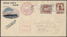1946 - PERU - Cover + Scott 376+RA30 + LIMA - Peru