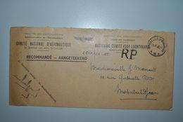 Belgique 1946 Lettre Recommandée Comité Aéronautique - Brieven En Documenten
