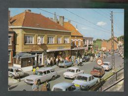 """CP (Belg.) Westouter - Frontière Franco-Belge - Café Restaurnt """"Belle Vue"""" - Magasin Végé - Voitures - Belgium"""