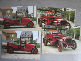 4 Cartes Voitures Delahaye . Edite Par Les Sapeurs Pompiers De Schiltigheim - Cartes Postales