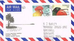 36863. Carta Aerea FUNAFUTI (Tuvalu) 1990. Official Stamps To England - Tuvalu