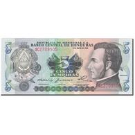Billet, Honduras, 5 Lempiras, 1980, 1980-05-08, KM:63a, NEUF - Honduras