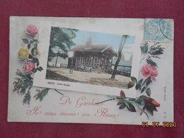 """CPA - """"De Garches, Je Vous Envoie Ces Fleurs"""" - Pavillon Rustique - Garches"""