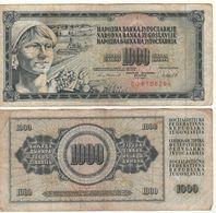YUGOSLAVIA  1'000  Dinara   P92d  (  Peasant Woman  Dated 04.11.1981 ) - Sonstige – Europa