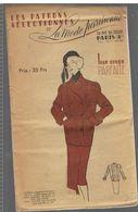 Jaquette Croisée En Velours Côtelé Employés En Sans Opposés Les Patrons Sélectionnés De La Mode Parisienne Année 1930 - Patrons