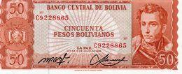 BOLIVIA 50 PESOS BOLIVIANOS 1962  P-162a20  UNC - Bolivia