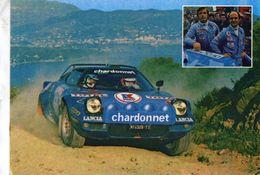 Championnat D'Europe Des Rallyes 1977  -  Bernard Darniche/Mahe  -  Lancia Stratos  -  Carte Postale/Promo - Rallye