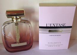 "NINA RICCI :  RARE FLACON ""L'EXTASE - CARESSE DE ROSES"" - + BOITE (flacon VIDE) - Flakons (leer)"