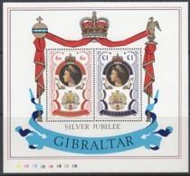 GIBRALTAR  Block 3, Postfrisch **, 25 Jahre Regentschaft Von Königin Elisabeth II. 1977 - Blocs