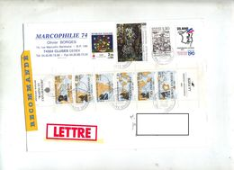 Lettre Recommandée Cluses Carnet Marins Bryen - Marcophilie (Lettres)
