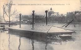 75 - PARIS 12 ème - INONDATIONS De JANVIER 1910 : Octroi Du Port St Nicolas - CPA - Seine - De Overstroming Van 1910