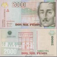 Kolumbien Pick-Nr: 457z Bankfrisch 2014 2.000 Pesos - Colombia
