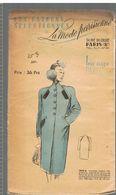 Manteau Raglan Très Pratique, Exécuté En Velours De Laine Les Patrons Sélectionnés De La Mode Parisienne Année 1930 - Patrons