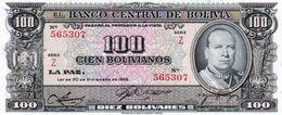 BOLIVIA 100  BOLIVIANOS 1945  P-147  UNC SERIE Z 565307 - Bolivien