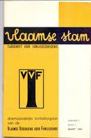 Tijdschrift Voor Familiegeschiedenis - Vlaamse Stam - Jg. 1 N° 1 - 1965 - Kwartierstaat A. Rodenbach Roeselare - History