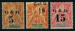 Guadalupe (Francesa) Nº 45-46-47 (sobrecarga) - Guadeloupe (1884-1947)