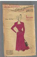 Elégante Robe De Crêpe Mousse Violine. Jupe A Empiècement Les Patrons Sélectionnés De La Mode Parisienne Année 1930 - Patrons