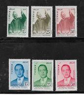 Timbres Du Maroc  De 1957  N°374 A 379  Complet   Neufs** - Maroc (1956-...)
