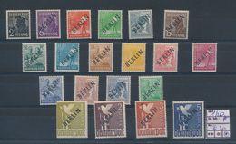 GERMANY BERLIN YVERT 1/20A BLACK OVERPRINT LH - Unused Stamps