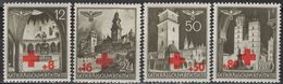 Poland - General Government - German Occupation WWII - Red Cross - Set Of 4 - Mi 52 / 55 - 1940 - Occupation 1938-45