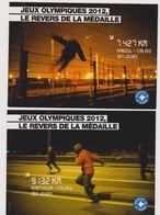 Ed Cart'com Lot De 2 Cp Emigration JO 2012 Revers Medaille Calais Médecins Du Monde - CPM 10,5x15 TBE 2012 Neuves - Politique