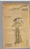 Robe à Basque En Cotonnade Imprimée, Garniture De Plissés Les Patrons Sélectionnés De La Mode Parisienne Année 1930 - Patrons