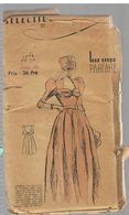 Pour Le Bal Ou Cortège, Cette Robe De Jeune Fille  Les Patrons Sélectionnés De La Mode Parisienne Année 1930 - Patrons