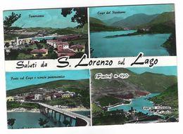 CLA189 - SALUTI DA S LORENZO IN LAGO FIASTRA MACERATA 4 VEDUTE FIASTRONE 1967 - Altre Città