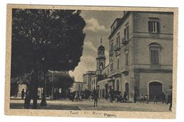 CLA190 - TRANI VIA MARIO PAGANO ANIMATISSIMA AUTO 1936 - Trani