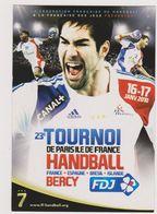 Ed Cart'com Handball Tournoi Paris Bercy Karabatic Nicolas - CPM 10,5x15 TBE 2010 Neuve - Balonmano