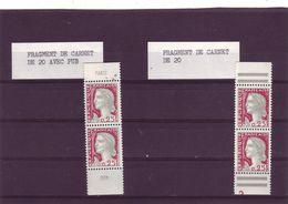 Marianne De DECARIS -  Paires Verticaoles De Carnet De 20 Avec Et Sans Pub - - 1960 Maríanne De Decaris