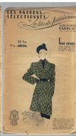Manteau Sport Sept-huitième En Gros Lainage Quadrillé Les Patrons Sélectionnés De La Mode Parisienne Année 1930 - Patrons